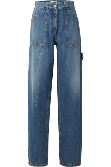 Valentino Hoch sitzende Jeans mit weitem Bein in Distressed-Optik