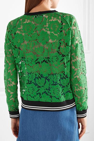 Valentino Sweatshirt aus schnurgebundener Spitze aus einer Baumwollmischung mit Jersey-Besatz