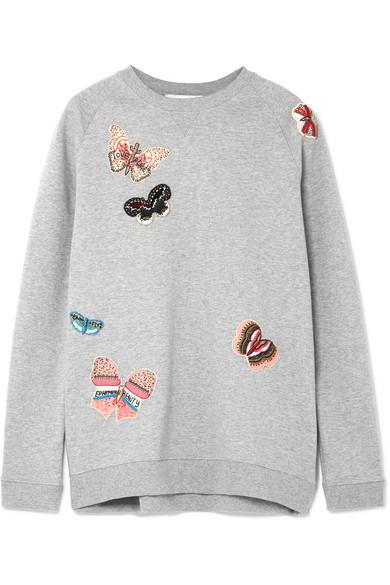 Valentino Sweatshirt aus Baumwoll-Jersey mit Applikationen