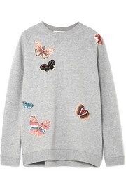 Valentino Appliquéd cotton-jersey sweatshirt