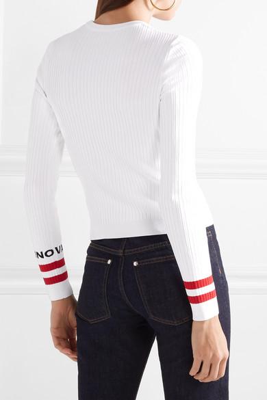 Valentino Pullover in Rippstrick mit Intarsienmotiv