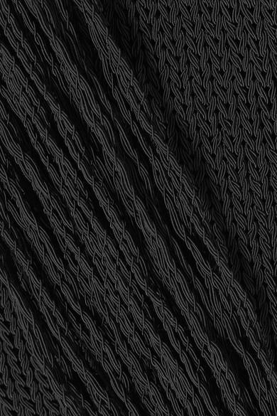 Valentino Asymmetrisches Oberteil aus einer Baumwollmischung mit Fransen