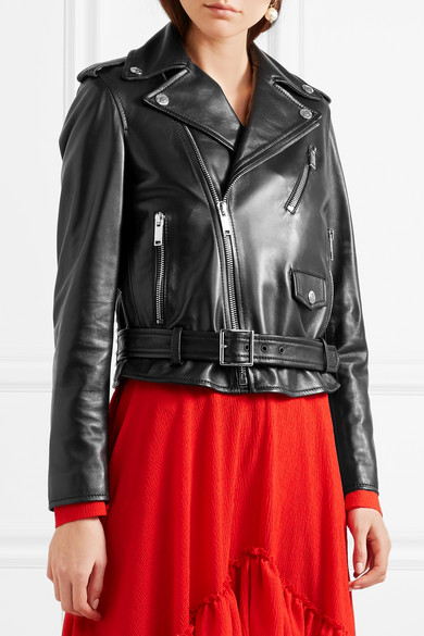 Valentino Rockstud Biker Jacket In Leather With Ornaments