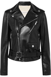 Valentino The Rockstud embellished leather biker jacket