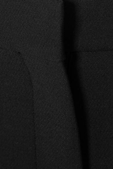 Valentino Verkürzte Hose mit weitem Bein aus Crêpe aus einer Woll-Seidenmischung