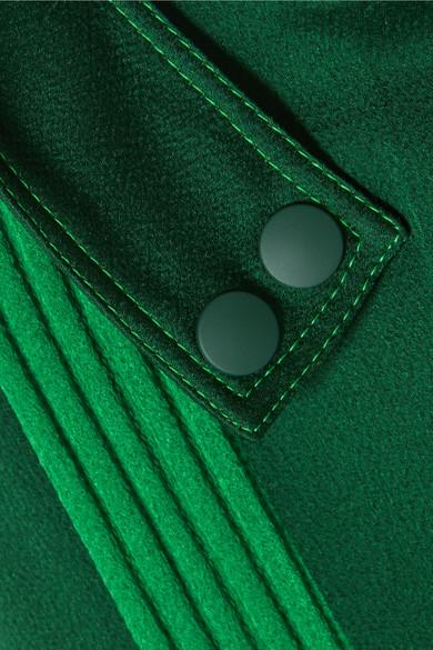 Valentino Hose mit weitem Bein aus gehämmertem glänzendem Jersey mit Streifen und Gürtel
