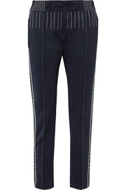 Valentino Embroidered ponte straight-leg pants