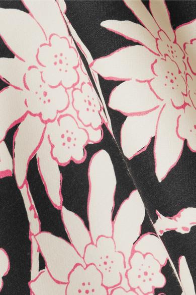 Valentino Bedrucktes Oberteil aus einer Woll-Seidenmischung