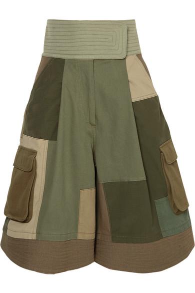 Valentino Patchwork-Shorts aus einer Baumwollmischung