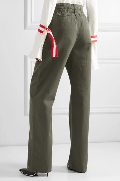 Valentino Hose mit geradem Bein aus Baumwoll-Twill mit Cut-out