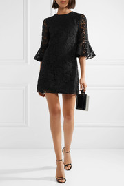 Valentino Donna cotton-blend corded lace mini dress