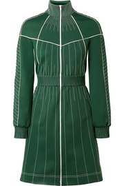 Valentino Embroidered satin-jersey mini dress