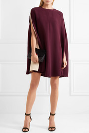Valentino Cape-effect silk-blend mini dress