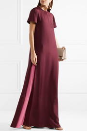 Valentino Two-tone silk crepe de chine gown