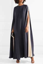 Valentino Cape-effect silk-blend gown