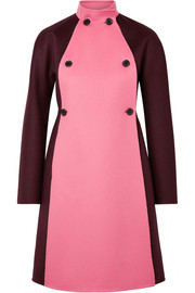 Valentino Two-tone double-breasted wool and cashmere-blend felt coat