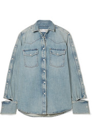 Valentino Cutout denim shirt