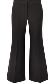 Valentino Wool and silk-blend crepe wide-leg pants