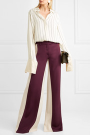 Valentino Silk-satin wide-leg pants