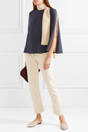 Valentino Cape-effect silk-cady blouse