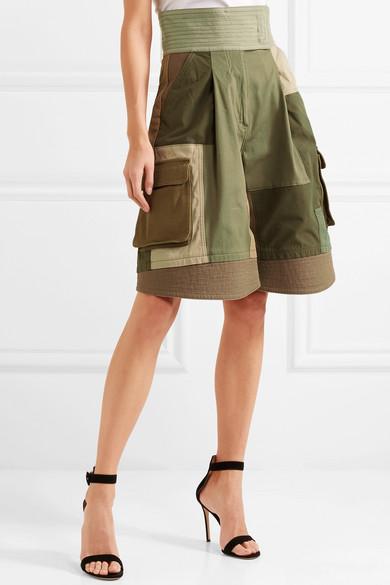 Patchwork Short Coton Mélange - Valentino Vert Armée JzeXy7t