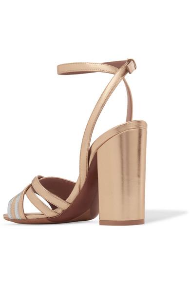 Toni Two-tone Metallic Leather Sandals - Gold Tabitha Simmons waiiet