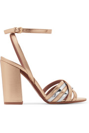 Tabitha Simmons Toni two-tone metallic leather sandals