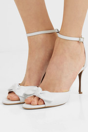 Mimi bow-embellished leather sandals