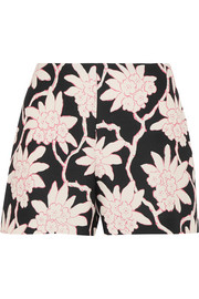 Valentino Printed wool and silk-blend shorts