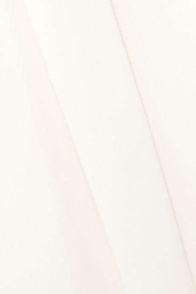 Brandon Maxwell Trägerloser Jumpsuit aus geripptem Crêpe