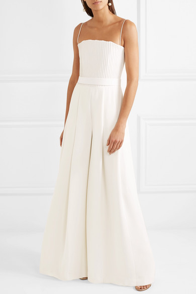 fdafe2c77ea Brandon Maxwell. Strapless ribbed crepe jumpsuit