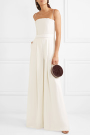 Brandon Maxwell Strapless ribbed crepe jumpsuit