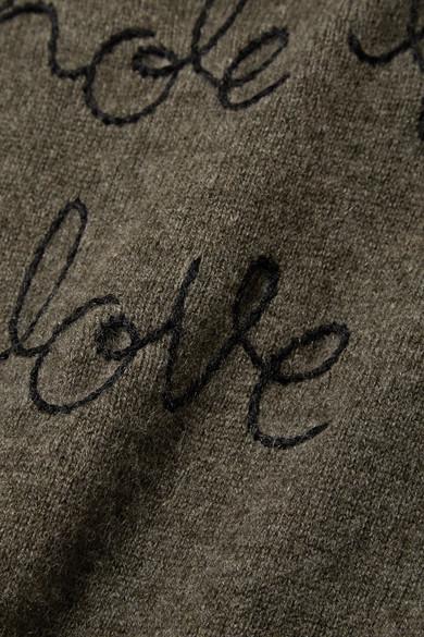Lingua Franca Whole Lotta Love bestickter Kaschmirpullover