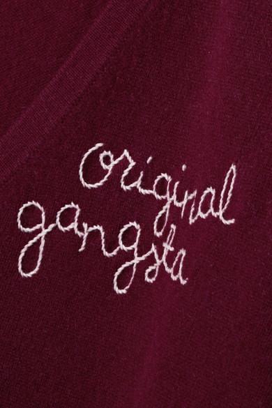 Lingua Franca Original Gangsta bestickter Kaschmirpullover