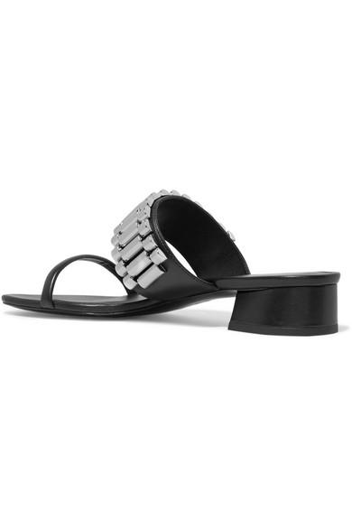 Drum Chain-embellished Leather Sandals - Black 3.1 Phillip Lim BLbnNkf