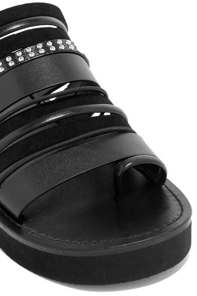 Billig Verkaufen Billig 3.1 Phillip Lim Eva nietenverzierte Sandalen aus Leder und Veloursleder Sammlungen Outlet Großer Rabatt Am Billigsten rZlzYDv