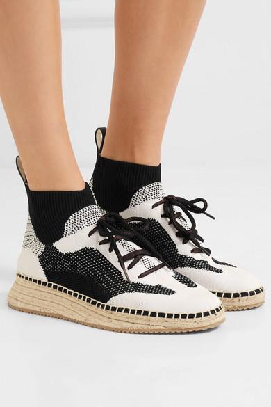 Alexander Wang Dakota Espadrille-Sneakers aus Stretch-Strick Auslass 2018 Neueste EyF4t8