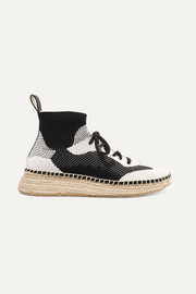 Dakota stretch-knit espadrille sneakers