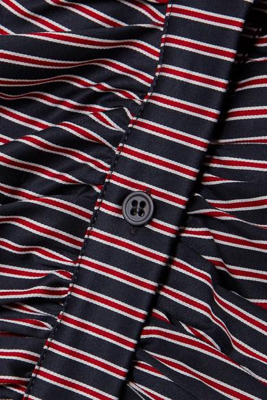 Billig Authentische Veronica Beard Geraffter Minirock aus gestreifter Baumwolle Billig Vermarktbare Ausgezeichnet Große Überraschung nyJiMcZ8