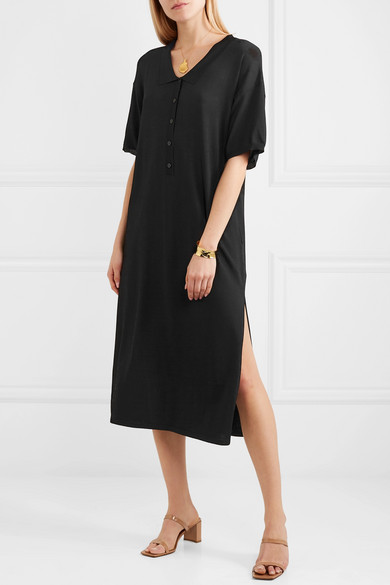 Totême Belize Oversized-Midikleid aus Stretch-Strick
