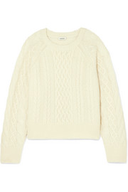 Bergeme cable-knit wool-blend sweater