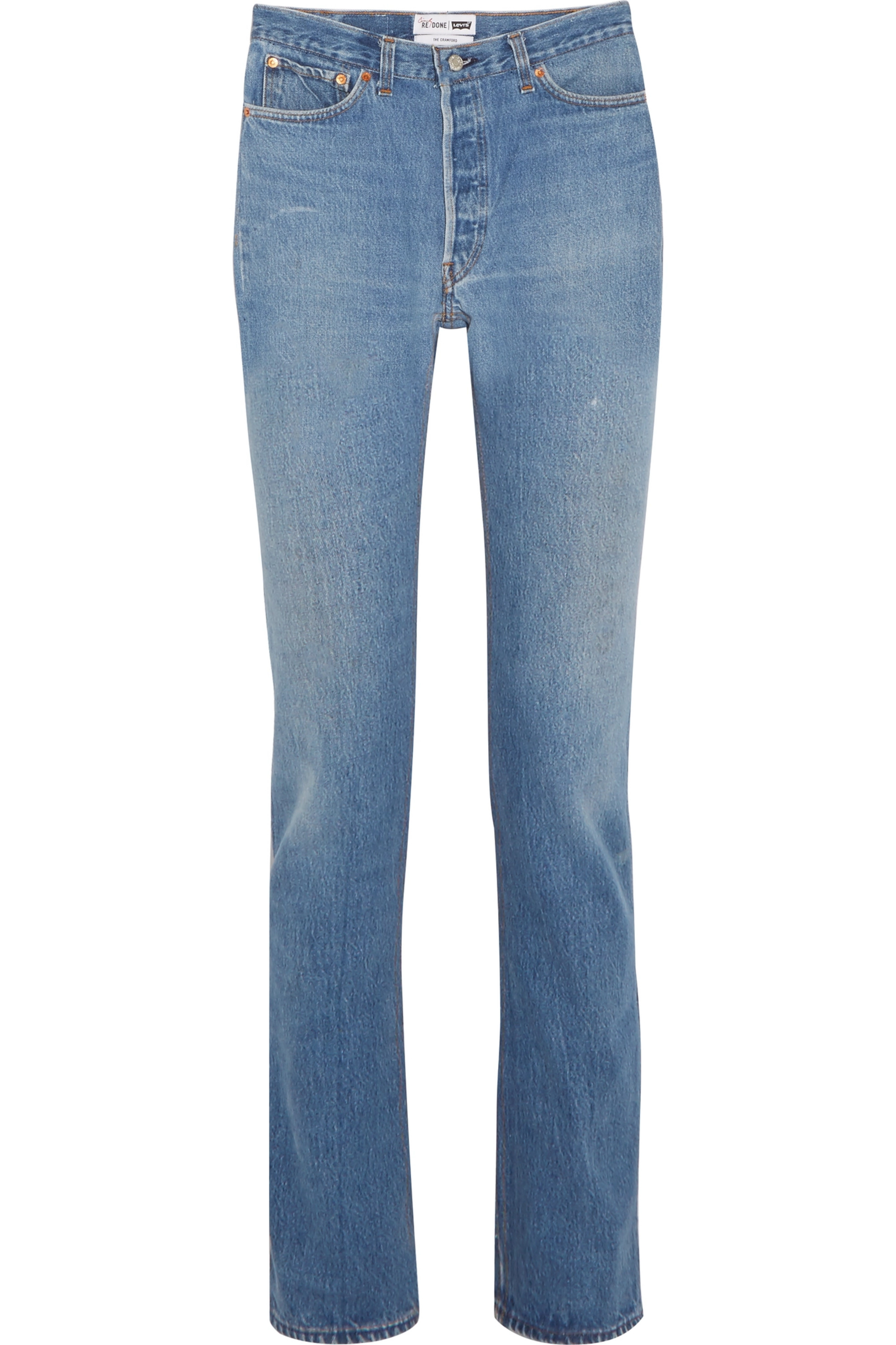 RE/DONE + Cindy Crawford The Crawford high-rise straight-leg jeans