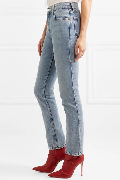 RE/DONE + Cindy Crawford The Crawford hoch sitzende Jeans mit geradem Bein