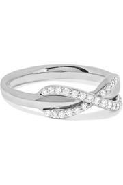 Infinity 18-karat white gold diamond ring