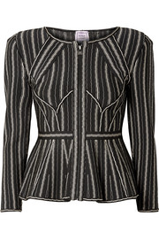 Delia striped bandage peplum jacket
