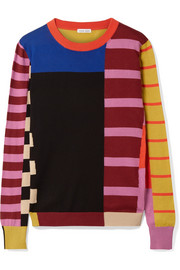 Patchwork cotton sweater