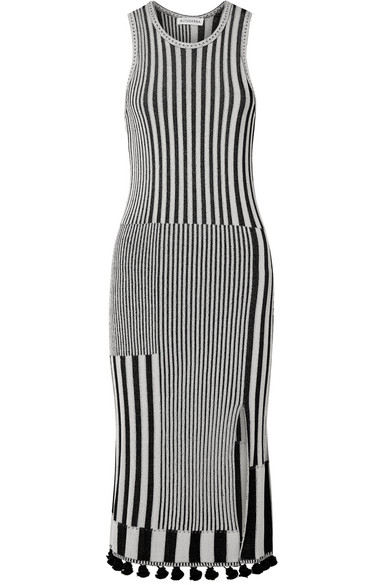 Lutetia Tasseled Ribbed Stretch-knit Midi Dress - Ivory Altuzarra Free Shipping Newest Outlet Classic cZgqVHN5b