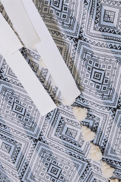 Altuzarra Villette Midikleid aus Jacquard aus einer Baumwollmischung mit Ripsband und Troddeln