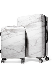 Astyll marbled hardshell suitcase set