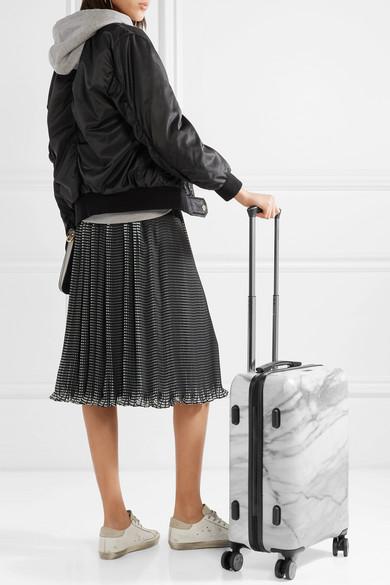 262077011 CALPAK | Astyll Carry-On marbled hardshell suitcase | NET-A-PORTER.COM